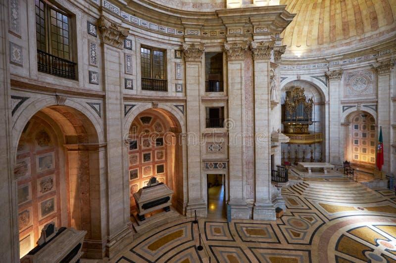 L'interno di Engracia della chiesa del panteon nazionale ora lisbona fotografia stock