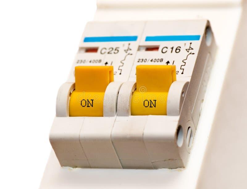 L'interrupteur à bascule électrique image stock