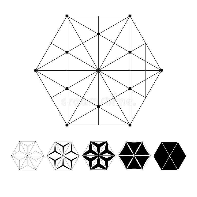 L'intersection des lignes géométriques illustration stock