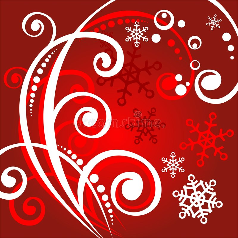 L'inverno bianco arriccia il reticolo illustrazione di stock
