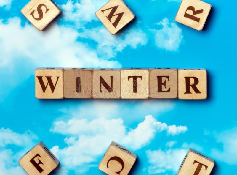 L'inverno di parola fotografie stock