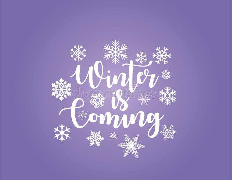 L'inverno sta venendo illustrazione vettoriale