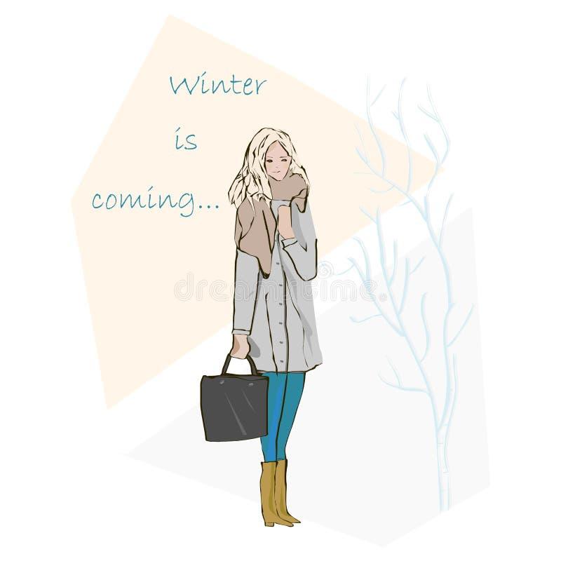L'inverno sta venendo royalty illustrazione gratis