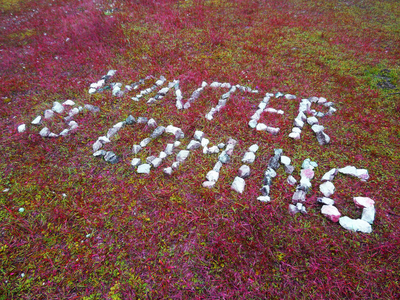 L'inverno sta venendo fotografie stock libere da diritti