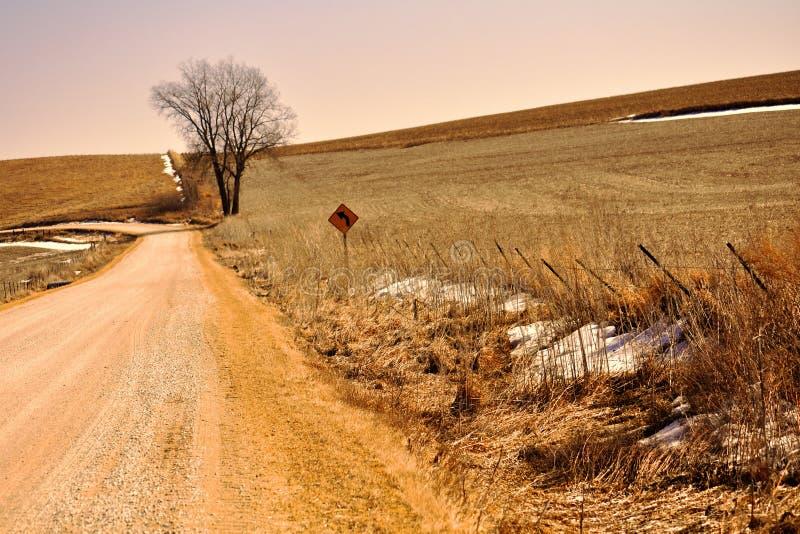 L'inverno tardo nello Iowa di nordest fotografia stock libera da diritti