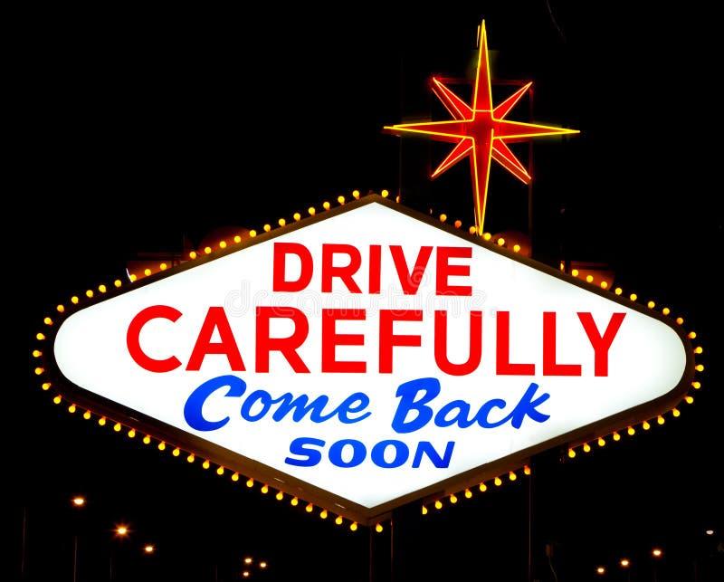L'inverse du relevé de signe de Las Vegas photo stock