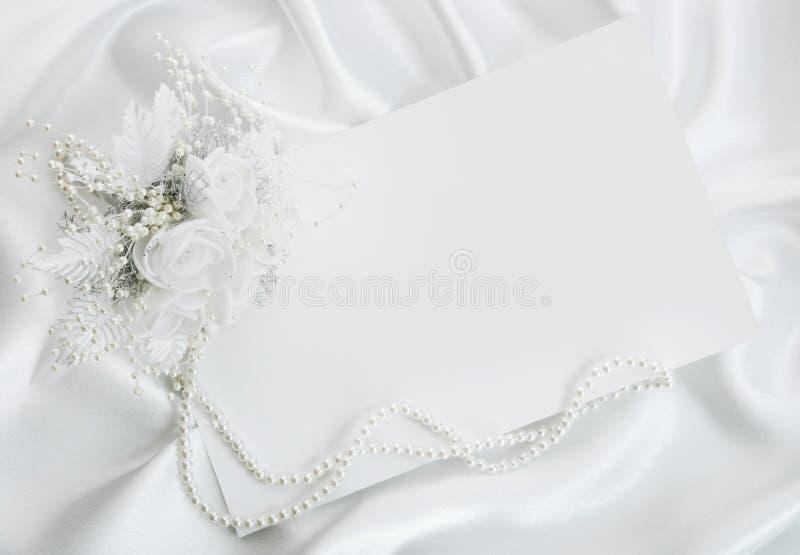 L'invitation de mariage photo stock