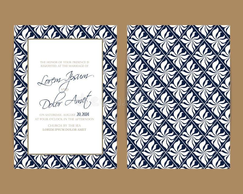 L'invitation de mariage et sauvent les cartes de date illustration de vecteur