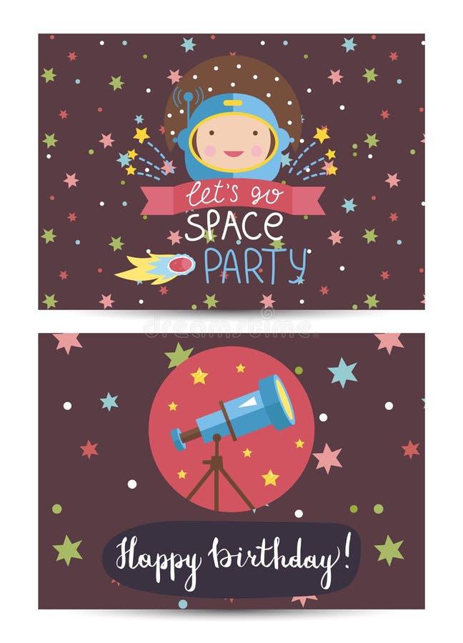L'invitation sur des enfants a costumé la fête d'anniversaire illustration libre de droits