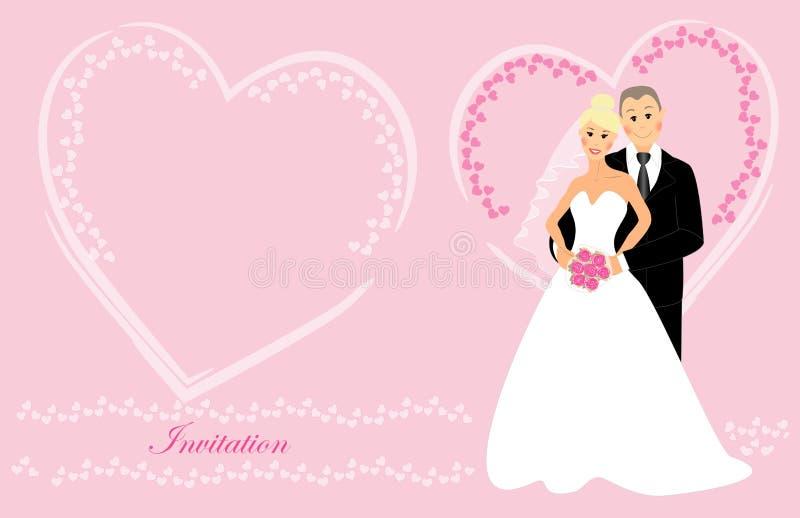 Invito 5 di nozze illustrazione vettoriale