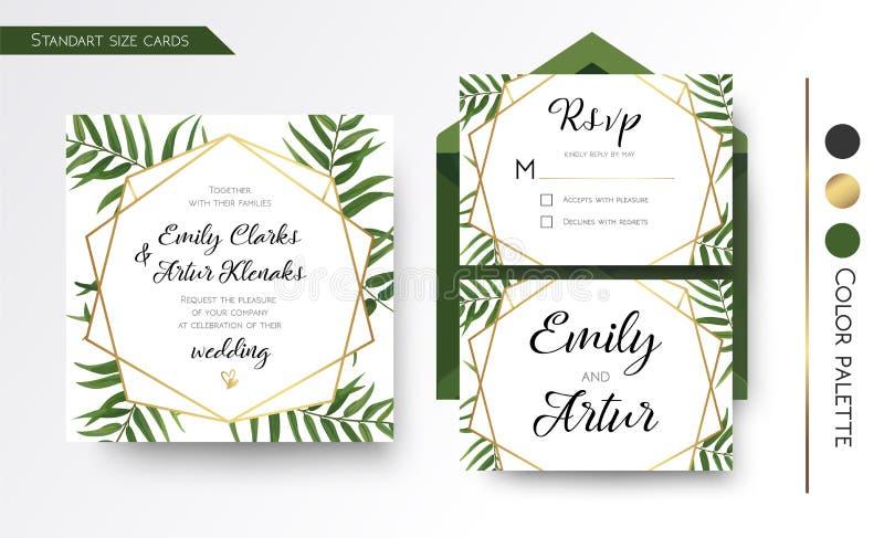 L'invito di nozze, conserva la data, rsvp invita la progettazione di carta con royalty illustrazione gratis