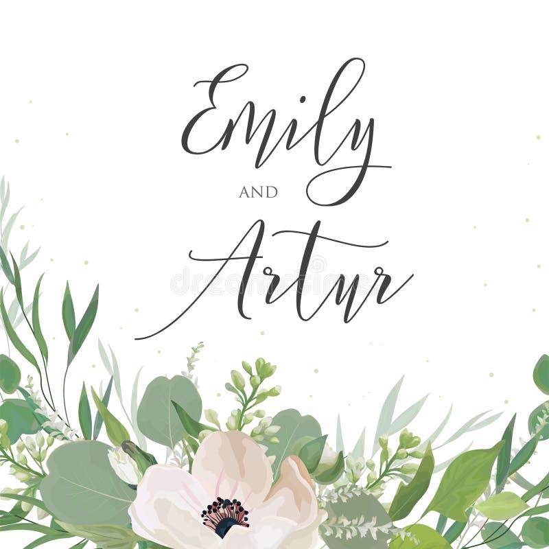 L'invito di nozze, invita, conserva la progettazione di carta della data con luce royalty illustrazione gratis