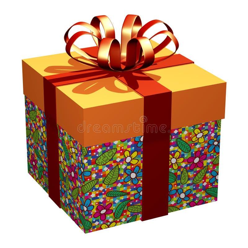 L'involucro Pattern_3D naturale del contenitore di regalo rende illustrazione vettoriale