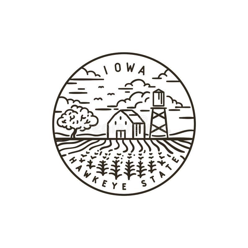 l'iowa Zone de maïs illustration stock