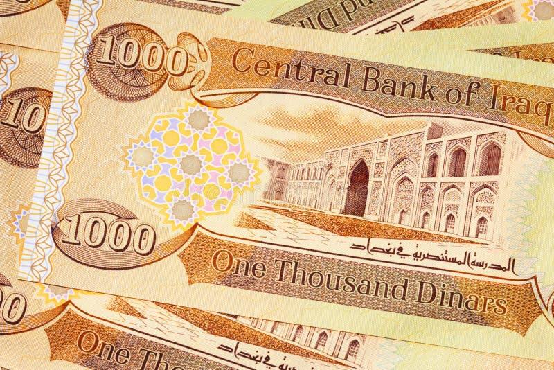 l'Irak la CBI de 1000 notes de dinar photos libres de droits
