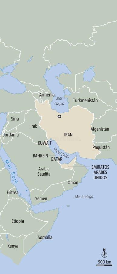 L'Iran illustrazione di stock
