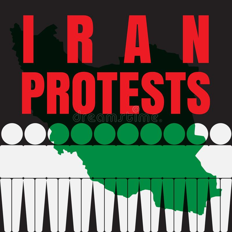 L'Iran proteste l'illustration illustration de vecteur
