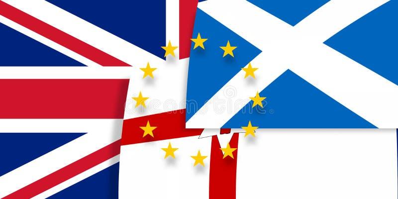 L'Irlanda del Nord Scozia Europa e bandiere del Regno Unito illustrazione di stock