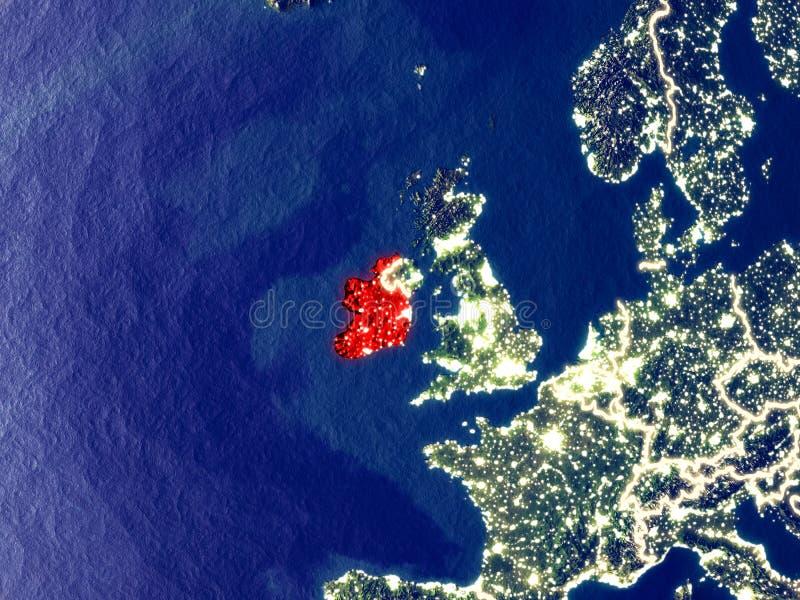 L'Irlanda su terra alla notte royalty illustrazione gratis