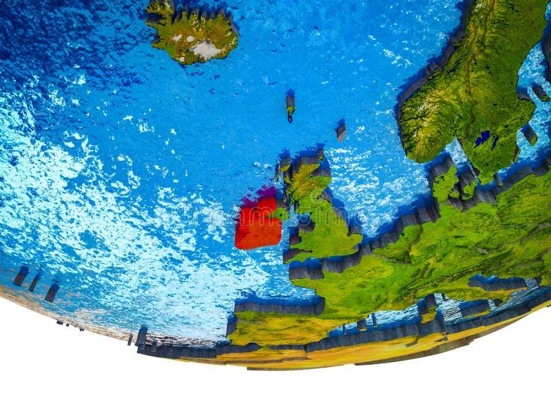 L'Irlanda su terra 3D royalty illustrazione gratis