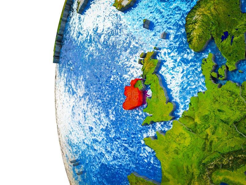 L'Irlanda su terra 3D fotografia stock