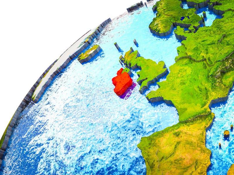 L'Irlanda su terra 3D immagine stock