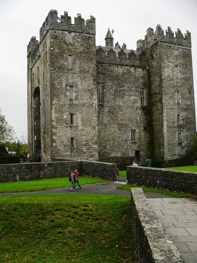l'irlande Château de Bunratty et parc de gens image libre de droits