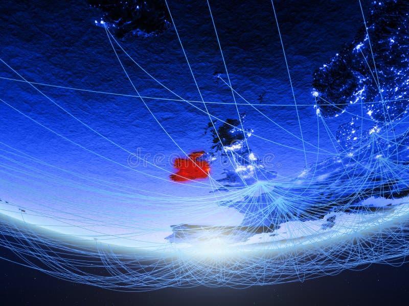 L'Irlande de l'espace avec le réseau illustration de vecteur