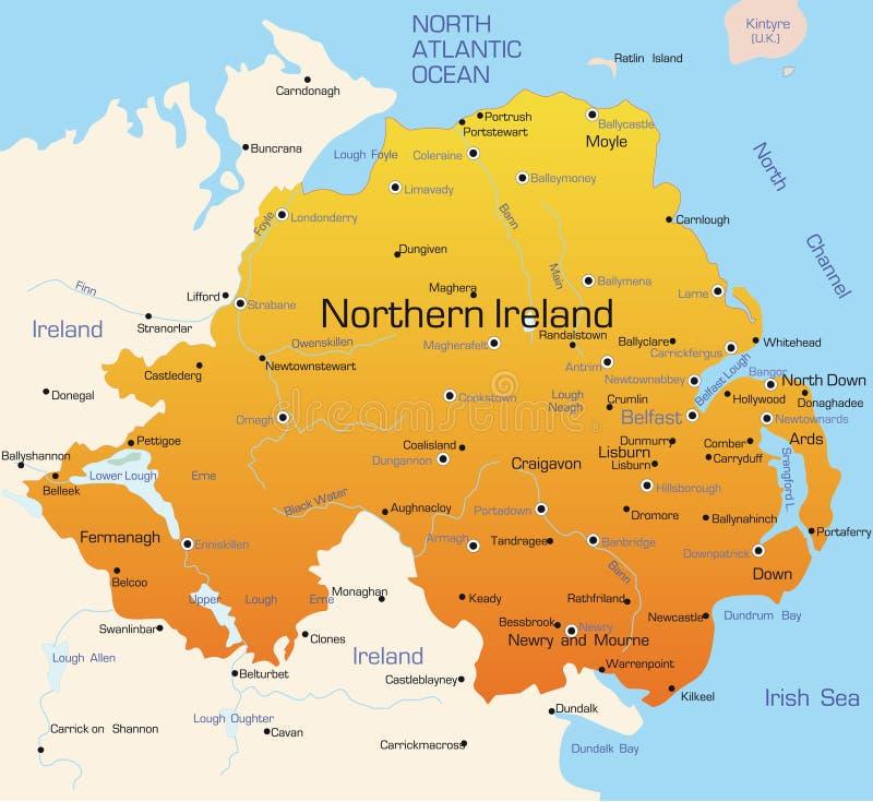 l'Irlande du Nord illustration de vecteur
