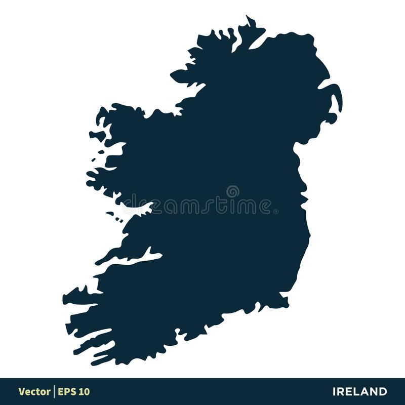 L'Irlande - les pays de l'Europe tracent la conception d'illustration de calibre d'ic?ne de vecteur Vecteur ENV 10 illustration libre de droits