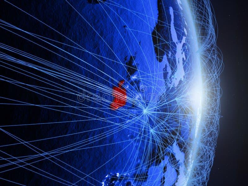L'Irlande sur la terre numérique bleue bleue image libre de droits