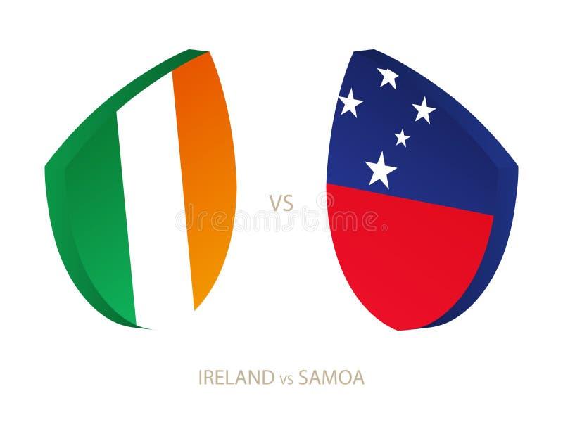 L'Irlande v Samoa, icône pour le tournoi de rugby illustration stock