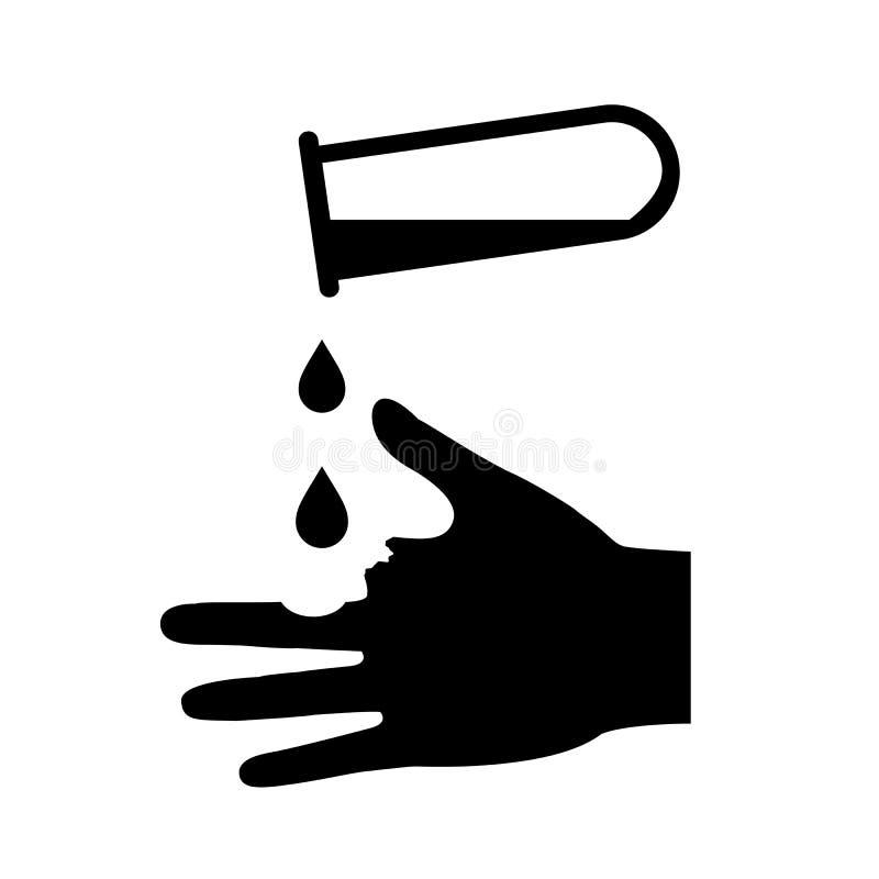 L'irritant évitent l'icône de contact cutané illustration stock
