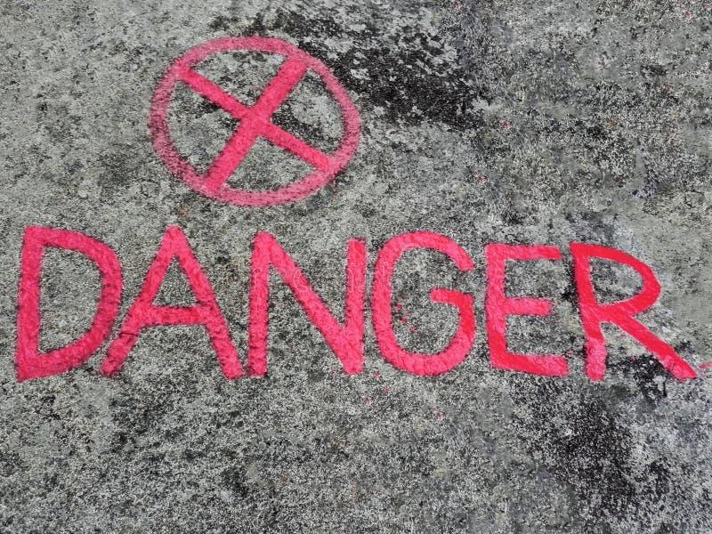 """L'iscrizione """"il pericolo """" immagini stock libere da diritti"""