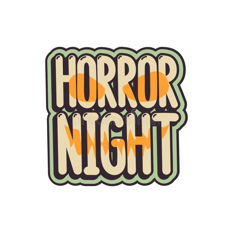L'iscrizione di stile dei fumetti - notte di orrore royalty illustrazione gratis
