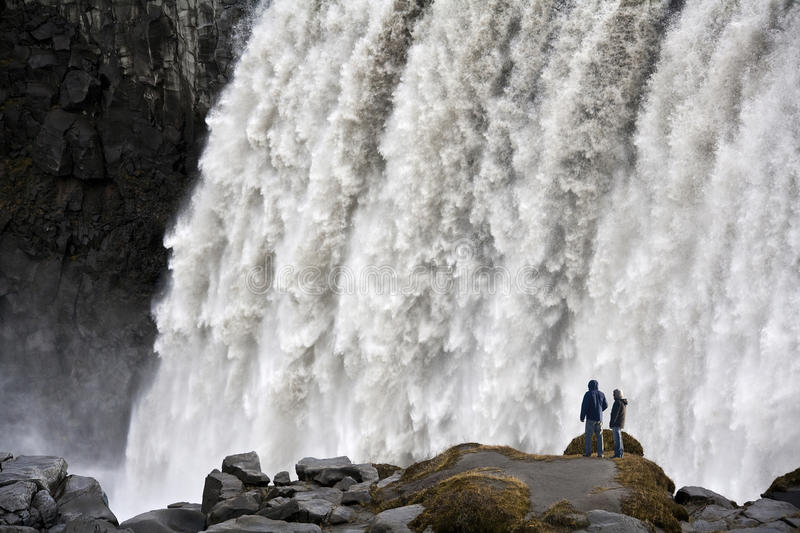 L'Islanda - cascata di Dettifoss fotografia stock libera da diritti