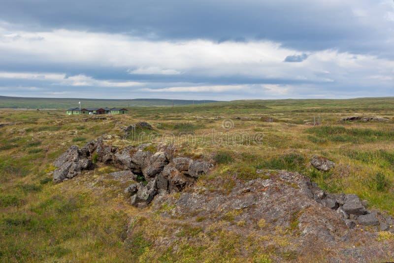 L'Islande a durci le paysage de gisement de lave photos stock