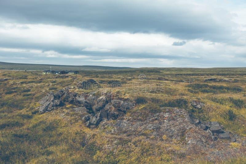 L'Islande a durci le paysage de gisement de lave images libres de droits