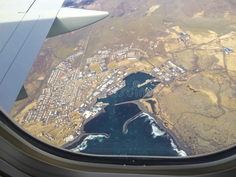 L'Islande Grindavik d'en haut photos stock