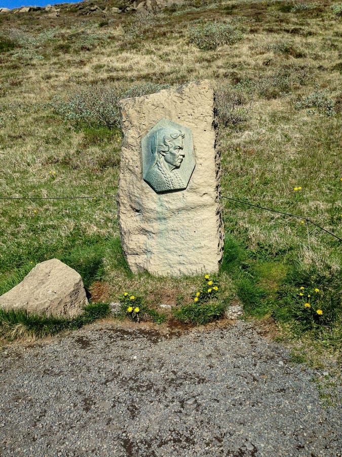l'islande Héros nationaux Ttir de ³ de masdà de ³ de Sigridur TÃ, 1874 - 1957 images libres de droits