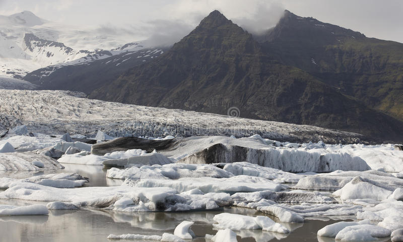 l'islande Secteur du sud-est Glacier de Fjallsjokull image libre de droits