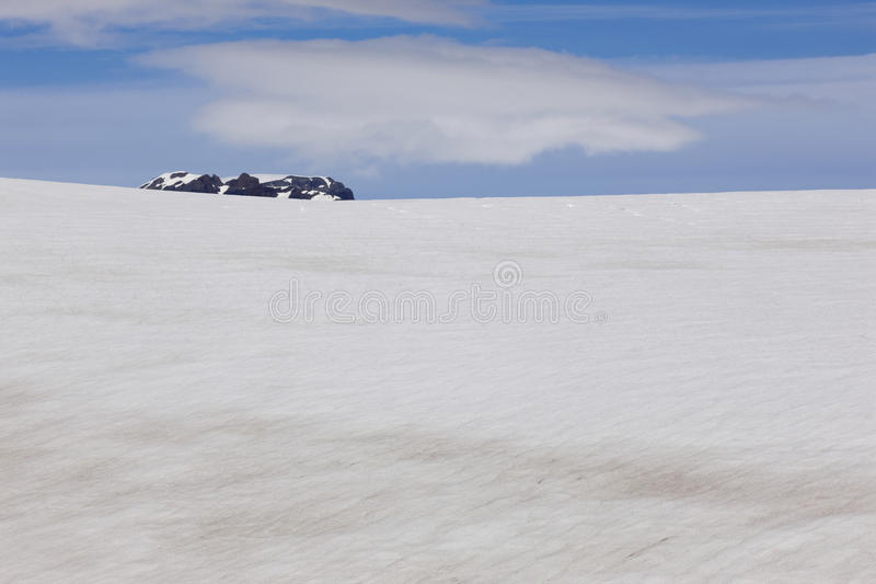 L'Islande. Secteur du sud-est. Glacier de Skalafelllsjokull. photographie stock libre de droits