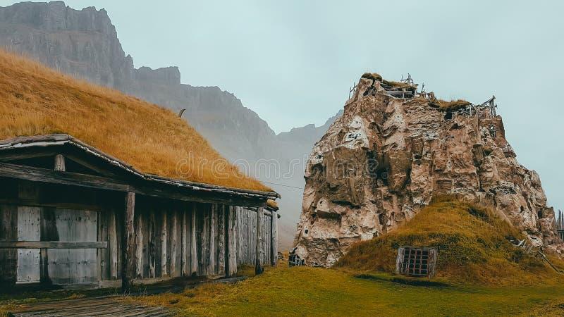L'Islande - village abandonné de Vikings photographie stock