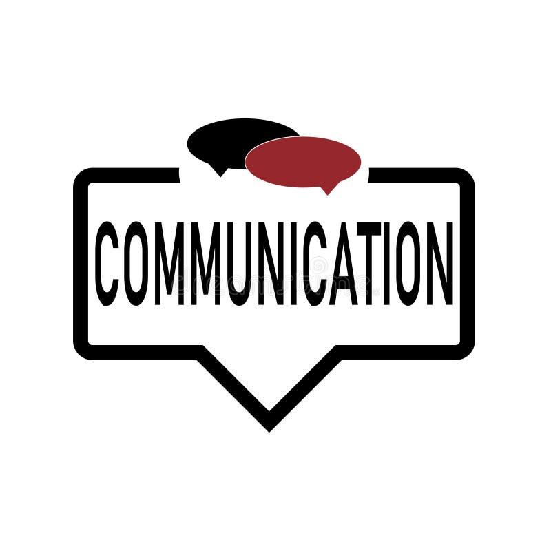 L'isllustration d'icône de Web de communication orale de bulle a isolé illustration stock