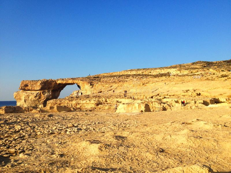 L'isola di Gozo - finestra azzurrata immagine stock