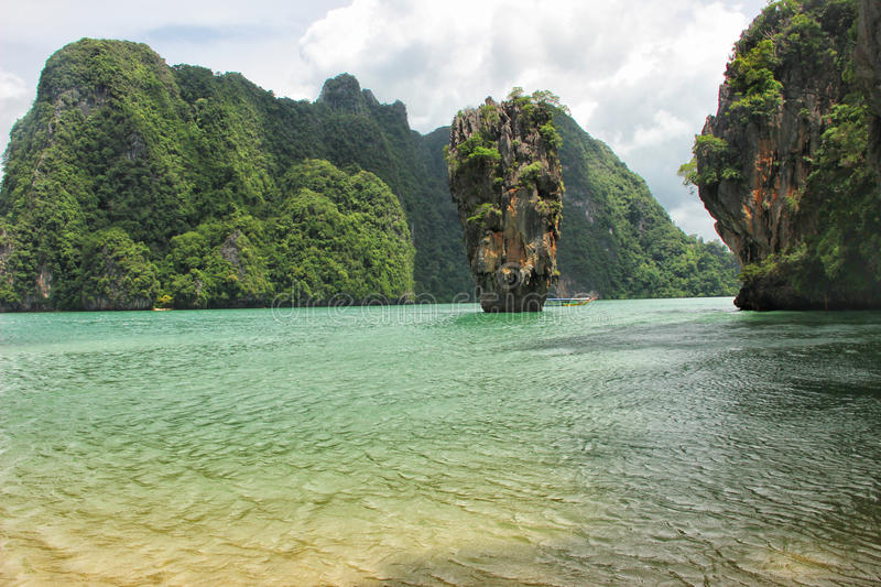 L'isola di James Bond in Tailandia fotografia stock