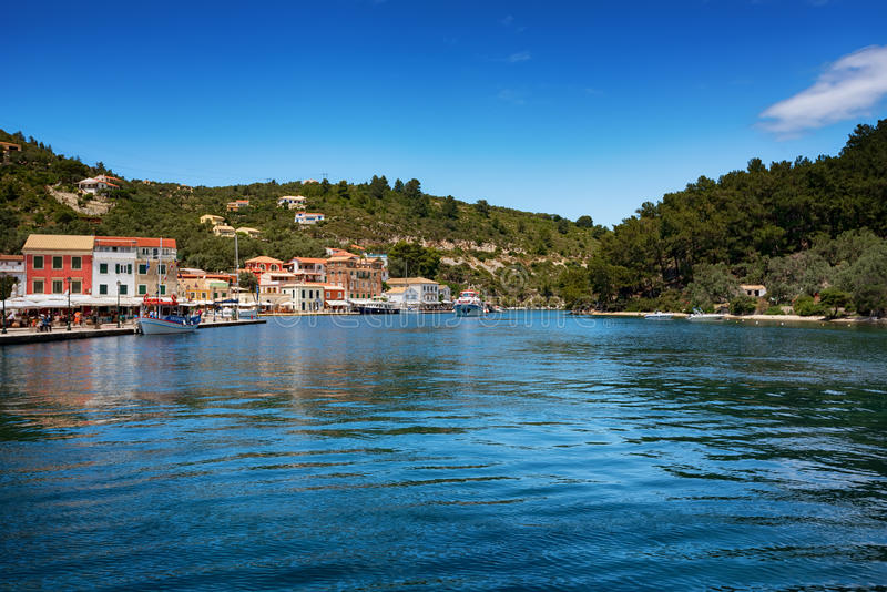 L'isola di Paxos, Grecia fotografia stock
