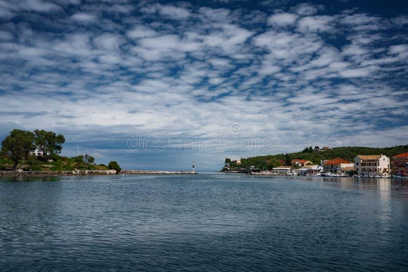L'isola di Paxos, Grecia immagini stock