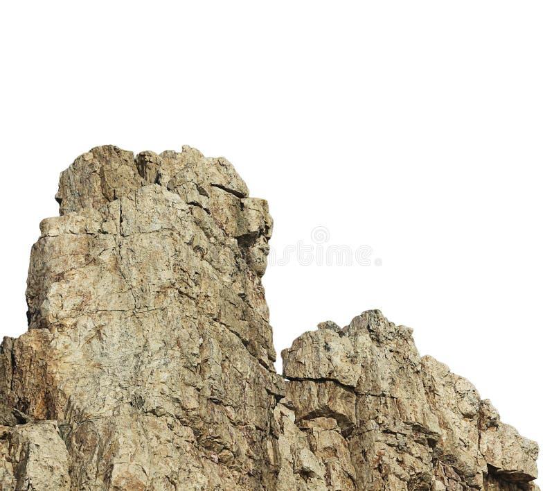 L'isolat de roche sur le fond blanc photos libres de droits