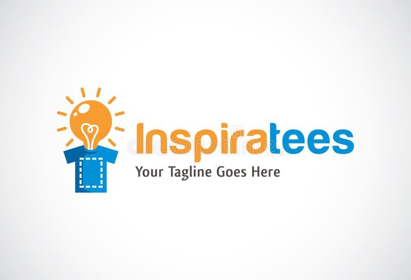 L'ispirazione colloca sul tee Logo Template Design Vector, emblema, concetto di progetto, simbolo creativo, icona illustrazione di stock